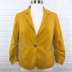 The Limited Marigold Blazer Jacket Yellow Mustard